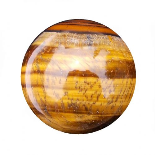 Tiger Eye Fortune Telling Crystal Ball Gemstone Sphere for Meditation 54mm 210g (TE15)